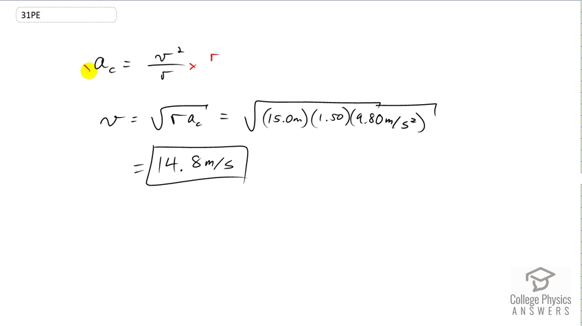 OpenStax College Physics Solution, Chapter 6, Problem 31 (Problems &  Exercises)