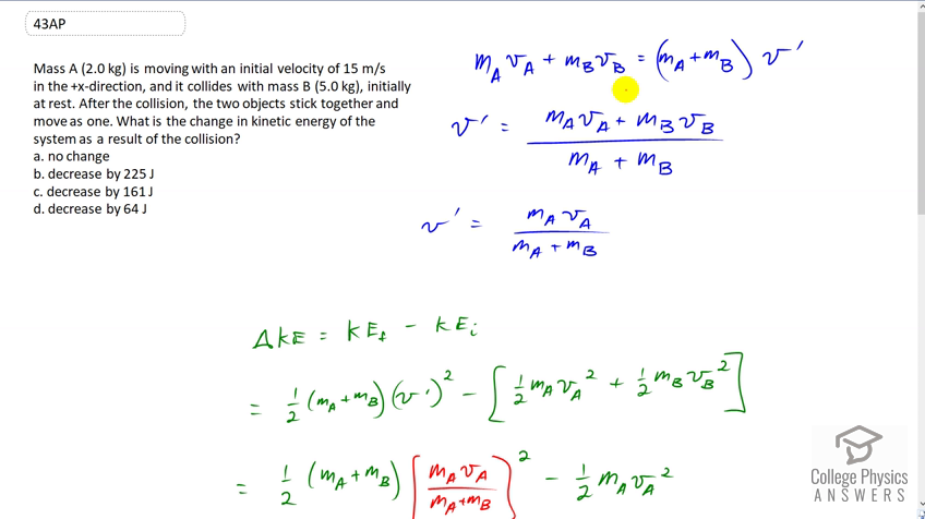 kinetic energy problems and solutions
