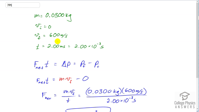 OpenStax College Physics Solution, Chapter 8, Problem 7 (Problems &  Exercises)