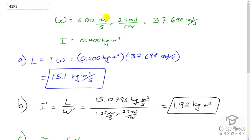 OpenStax College Physics Solution, Chapter 10, Problem 41 (Problems &  Exercises)