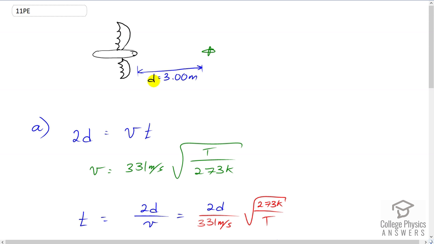 OpenStax College Physics Solution, Chapter 17, Problem 11 (Problems &  Exercises)