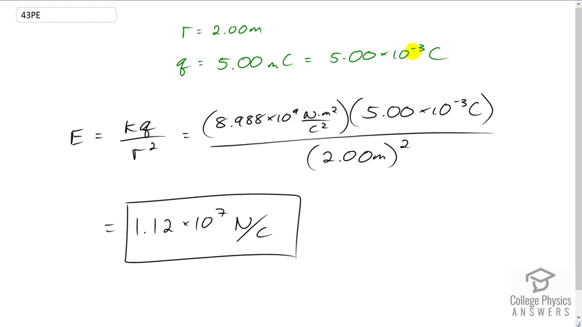 OpenStax College Physics Solution, Chapter 18, Problem 43 (Problems &  Exercises)