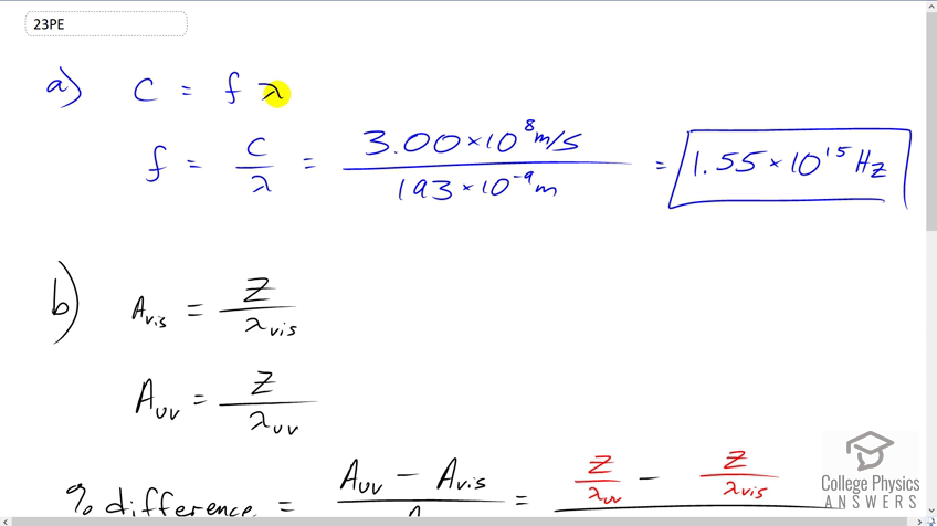 OpenStax College Physics Solution, Chapter 24, Problem 23 (Problems &  Exercises)